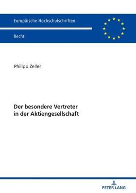 Zeller   Der besondere Vertreter in der Aktiengesellschaft   Buch   sack.de