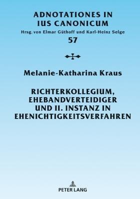 Kraus   Richterkollegium, Ehebandverteidiger und II. Instanz in Ehenichtigkeitsverfahren   Buch   sack.de