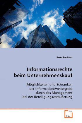Pünkösti | Informationsrechte beim Unternehmenskauf | Buch | sack.de