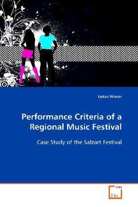 Wieser | Performance Criteria of a Regional Music Festival | Buch | sack.de