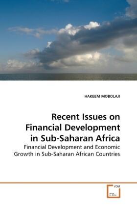 Recent Issues on Financial Development in Sub-Saharan Africa | Buch | sack.de