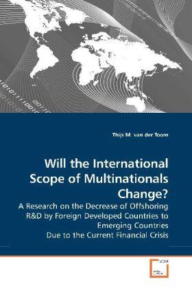 Will the International Scope of Multinationals Change? | Buch | sack.de