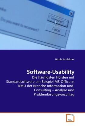 Achleitner | Software-Usability | Buch | sack.de