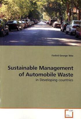 Sustainable Management of Automobile Waste   Buch   sack.de