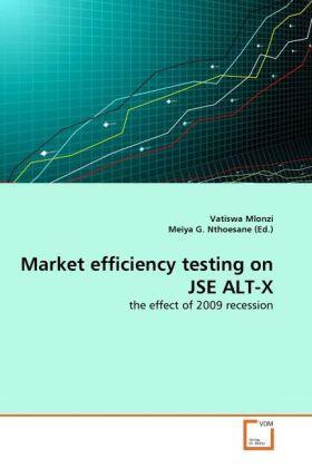 Mlonzi / Nthoesane | Market efficiency testing on JSE ALT-X | Buch | sack.de