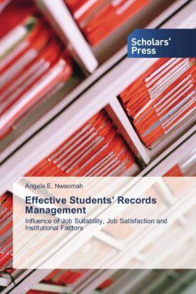 Nwaomah | Effective Students' Records Management | Buch | sack.de