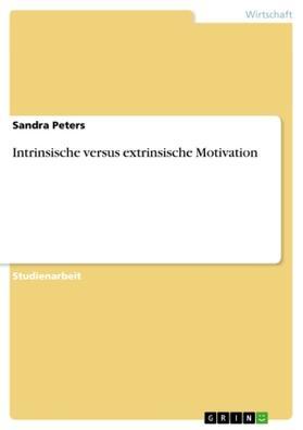 Intrinsische versus extrinsische Motivation   Buch   sack.de
