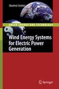 Stiebler    Wind Energy Systems for Electric Power Generation   Buch    Sack Fachmedien