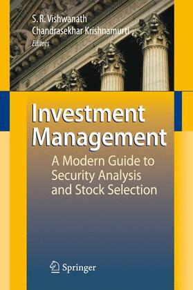 Krishnamurti / Vishwanath | Investment Management | Buch | sack.de