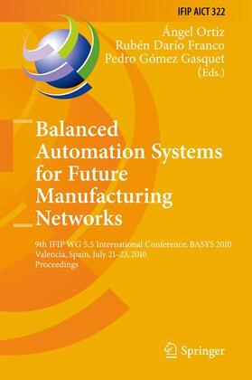 Ortiz Bas / Franco / Gómez Gasquet | Balanced Automation Systems for Future Manufacturing Networks | Buch | sack.de