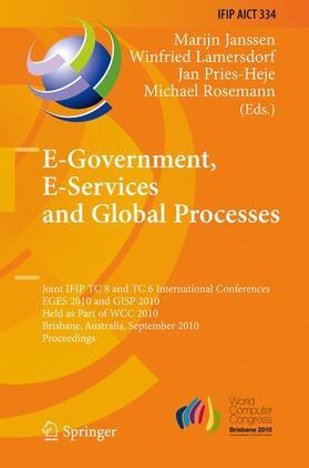 Janssen / Lamersdorf / Heje | E-Government, E-Services and Global Processes | Buch | sack.de