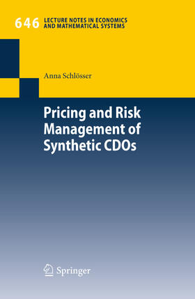 Schlösser | Pricing and Risk Management of Synthetic CDOs | Buch | Sack Fachmedien