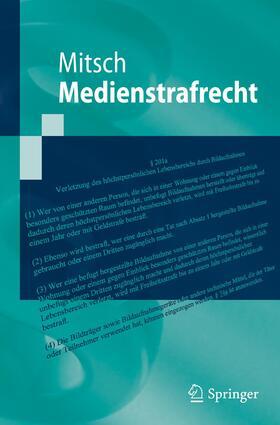 Mitsch | Medienstrafrecht | Buch | sack.de
