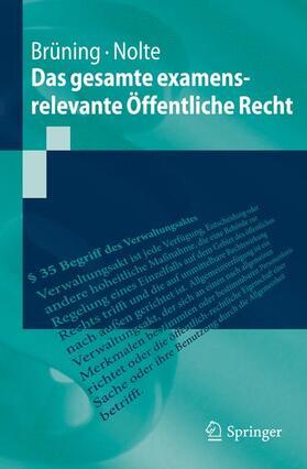 Brüning / Nolte | Das gesamte examensrelevante Öffentliche Recht | Buch | sack.de