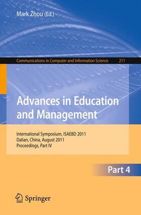 Zhou | Advances in Education and Management | Buch | sack.de