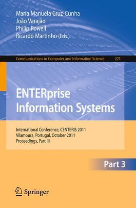 Cruz-Cunha / Varajao / Powell | ENTERprise Information Systems | Buch | Sack Fachmedien