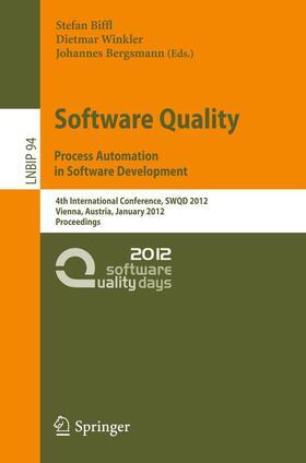 Biffl / Winkler / Bergsmann | Software Quality | Buch | sack.de