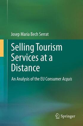 Bech Serrat | Selling Tourism Services at a Distance | Buch | sack.de