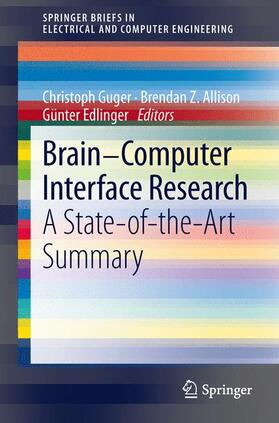 Guger / Allison / Edlinger | Brain-Computer Interface Research | Buch | sack.de