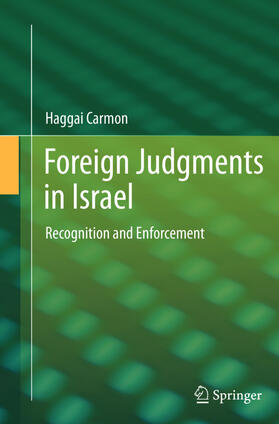Carmon | Foreign Judgments in Israel | Buch | sack.de
