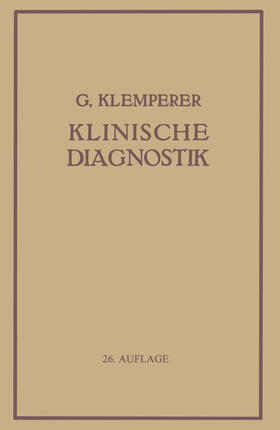 Klemperer | Grundriss Der Klinischen Diagnostik | Buch | sack.de