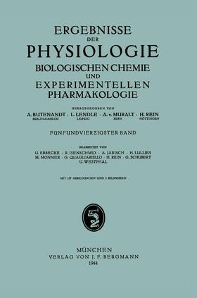 Butenandt / Lendle / Muralt | Ergebnisse der Physiologie Biologischen Chemie und Experimentellen Pharmakologie | Buch | sack.de