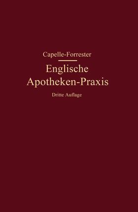 Capelle / Forrester   Englische Apotheken-Praxis   Buch   sack.de