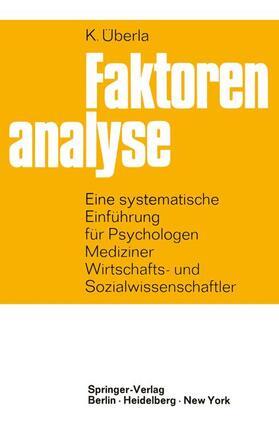 Überla   Faktorenanalyse   Buch   sack.de