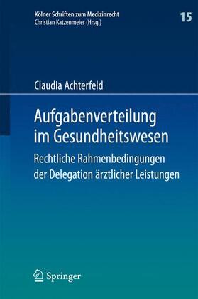 Achterfeld | Aufgabenverteilung im Gesundheitswesen | Buch | sack.de