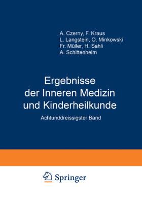 Langstein / Schittenhelm / Czerny   Ergebnisse der Inneren Medizin und Kinderheilkunde   Buch   sack.de