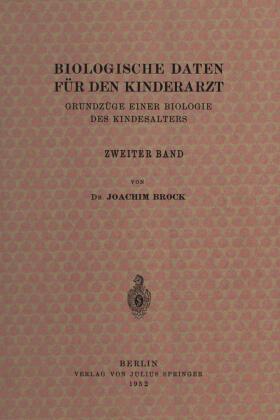 Brock / Thomas / Peiper   Biologische Daten für den Kinderarzt   Buch   sack.de