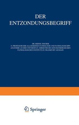 Fischer-Wasels | Der Entzündungsbegriff | Buch | sack.de