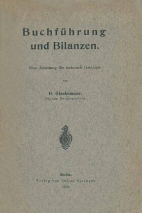 Glockemeier | Buchführung und Bilanzen | Buch | sack.de