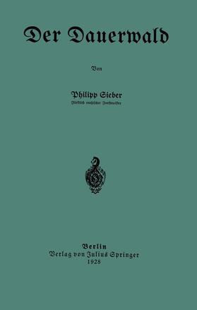 Sieber   Der Dauerwald   Buch   sack.de