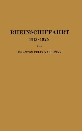 Napp-Zinn | Rheinschiffahrt 1913–1925 | Buch