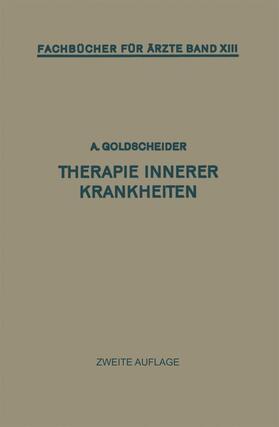 Goldscheider | Therapie Innerer Krankheiten | Buch | sack.de