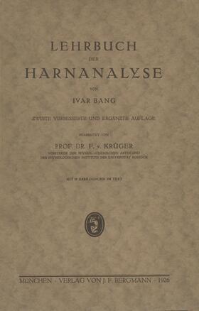 Bang / Krüger | Lehrbuch der Harnanalyse | Buch | sack.de