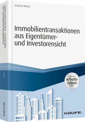 Bleuel   Immobilientransaktionen aus Eigentümer- und Investorensicht   Buch   sack.de