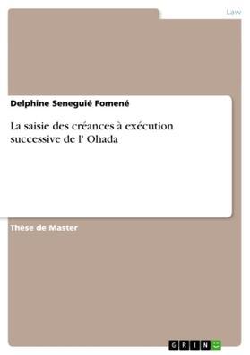 La saisie des créances à exécution successive de l' Ohada | Buch | sack.de