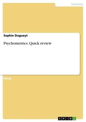 Dugueyt | Psychometrics. Quick review | Buch | sack.de