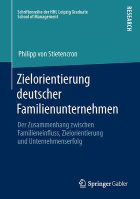 Stietencron   Zielorientierung deutscher Familienunternehmen   Buch   sack.de