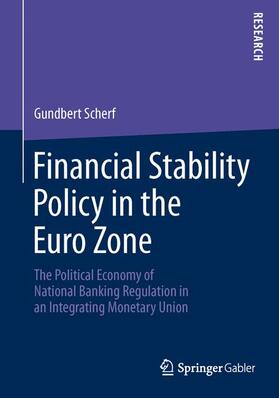 Scherf | Financial Stability Policy in the Euro Zone | Buch | sack.de