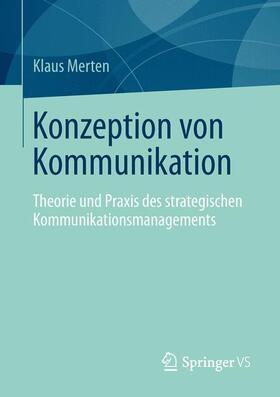 Merten | Konzeption von Kommunikation | Buch | sack.de