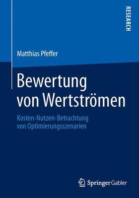 Pfeffer | Bewertung von Wertströmen | Buch | sack.de