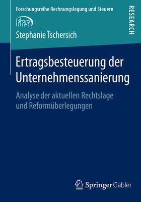 Tschersich | Ertragsbesteuerung der Unternehmenssanierung | Buch | sack.de