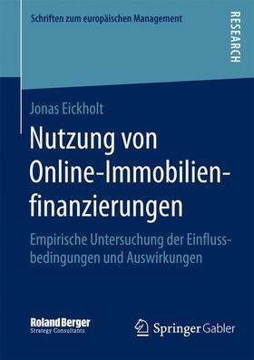 Eickholt | Nutzung von Online-Immobilienfinanzierungen | Buch | sack.de