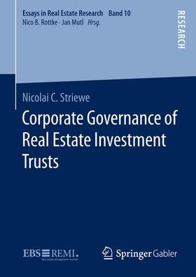 Striewe   Corporate Governance of Real Estate Investment Trusts   Buch   sack.de
