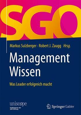 Sulzberger / Zaugg | ManagementWissen | Buch | sack.de