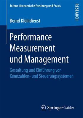 Kleindienst   Performance Measurement und Management   Buch   sack.de