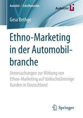 Bethge | Ethno-Marketing in der Automobilbranche | Buch | sack.de